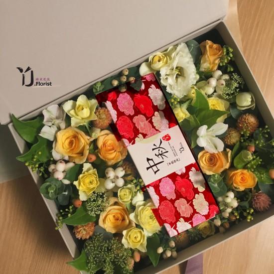 麻糬月饼花盒 Mochi Mooncake Flower Box